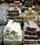 The wonderful Turkish Delight on display at the spice market in Istanbul