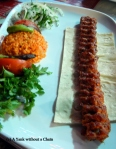 Typical Turkish kebap meal in Istanbul
