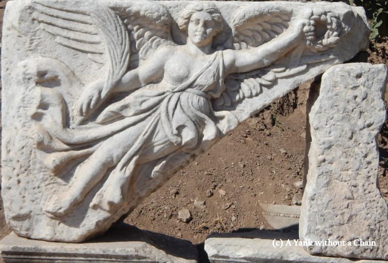 A rock carving detail at Ephesus