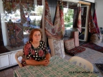 Mehmet's aunt, who makes the rugs and kilims by hand