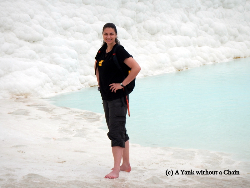 The Yank without a Chain at Pamukkale