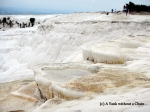 Some dry travertine terraces in Pamukkale