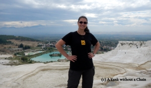 The Yank without a Chain at Pamukkale in Turkey