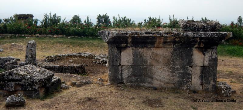 A Roman tomb in Hierapolis