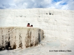 Men bathing in one of the Pamukkale pools