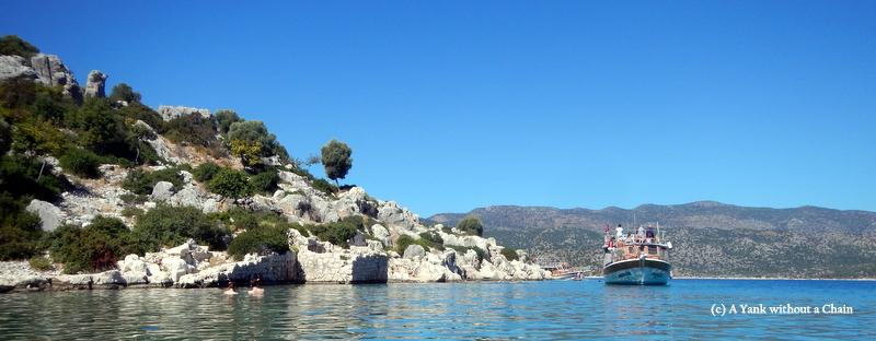 Some ancient ruins in Kekova Sound