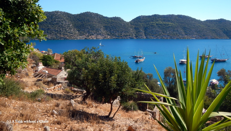 The view of Kekova Sound from the castle