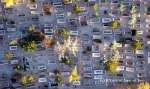 A bird's eye view of a cemetery in Cappadocia