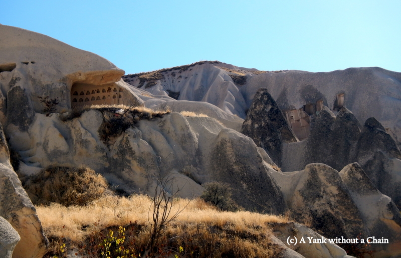 Some of the rock formations in Cappadocia