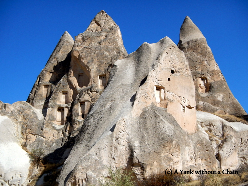 More houses built into the rocks in Cappadocia