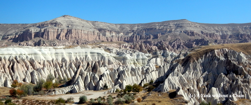 The red cliffs of Cappadocia