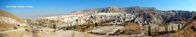 A panorama of Cappadocia