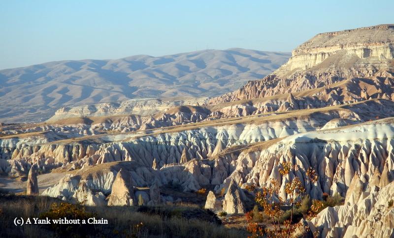 Views of the Cappadocia region cliffs