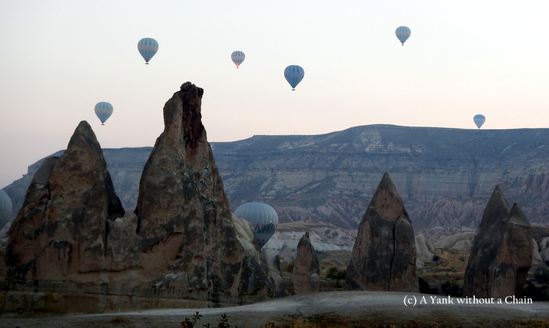 Some balloons passing through Red Valley