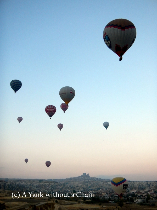 Balloons rising up to the sky