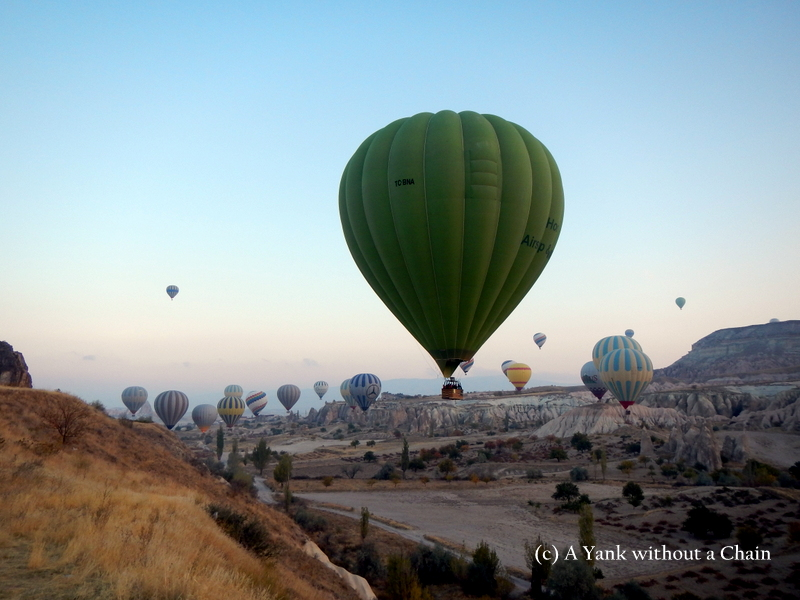 Balloons in the White Valley of Cappadocia