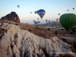Striking view of balloons in Cappadocia, Turkey