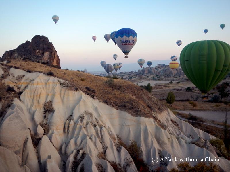 Striking view of balloons in Cappadocia, Turkey