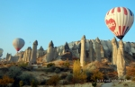 Balloons in Love Valley, Cappadocia