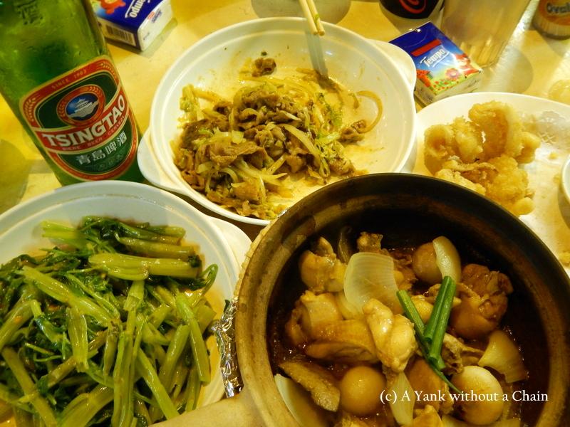 Street food (Dai Pai Dong) in central Hong Kong