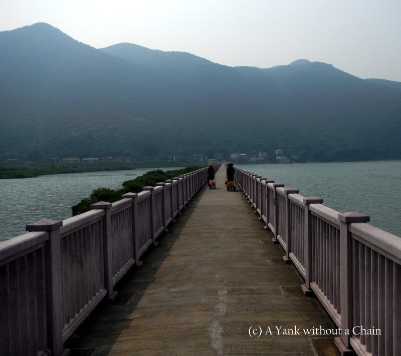 A bridge at the beginning of section 7 of the Lantau Trail