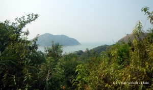Coastal views from the Lantau Trail