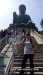 On the stairs leading up to the Big Buddha