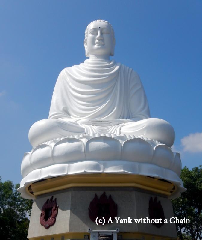 The Buddha statue at Long Son Pagoda
