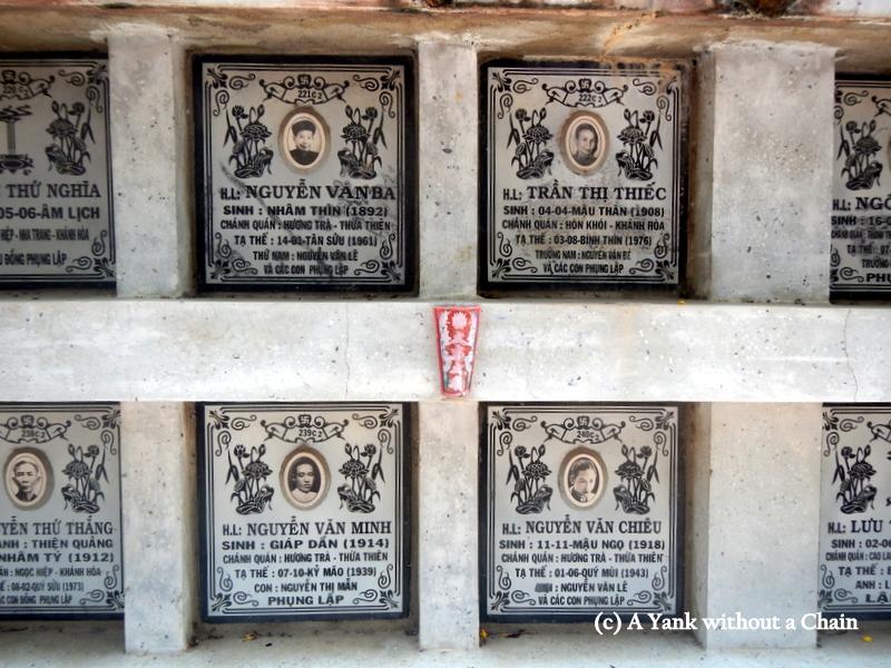 Memorials at the Long Son Pagoda