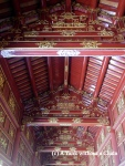 A colorful ceiling at the imperial citadel in Hue