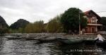 Boats at the dock at Tam Coc