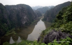 The view of Tam Coc from the top of mua cave