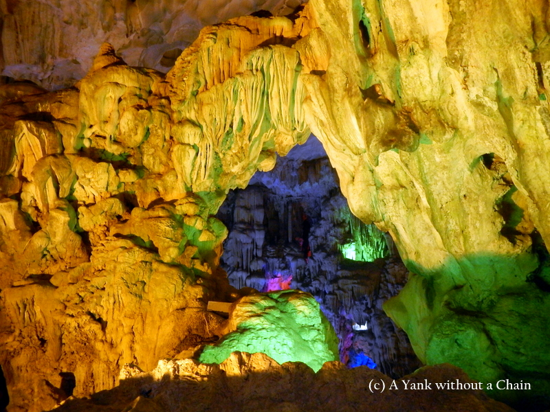 A cave in Ha Long Bay
