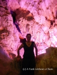 The Yank without a Chain inside a cave at Ha Long Bay
