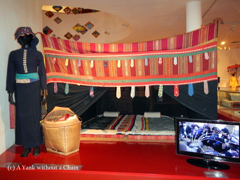 A traditional wedding night room set up at the Vietnamese Women's Museum in Hanoi