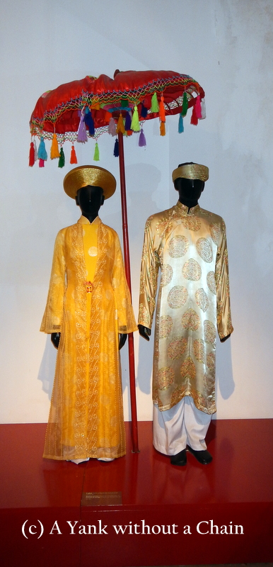 Traditional wedding clothes at the Vietnamese Women's Museum in Hanoi