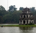 The Turtle Tower in Hoan Kiem lake in Hanoi