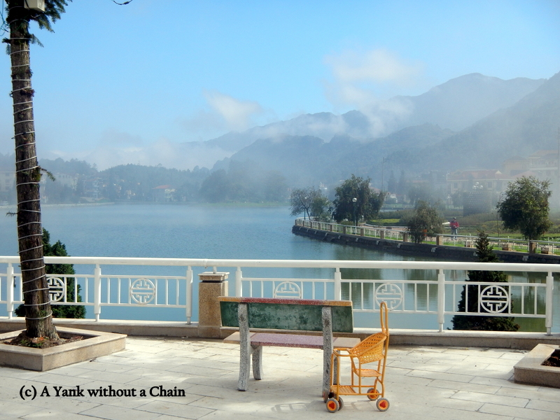 The lake in the center of Sapa Town