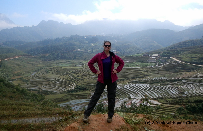 Posing with Sapa Rice Terraces