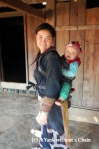 The daughter and grandson of Phan Man May, our homestay host