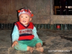 The grandson of my Red Dao homestay host, Phan Man May, in Ta Phin
