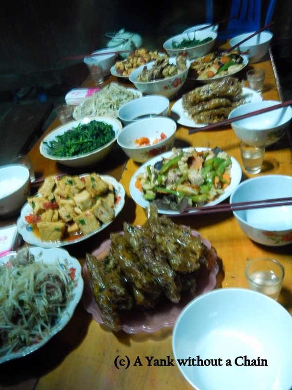 The delicious dinner cooked by Phan Man May