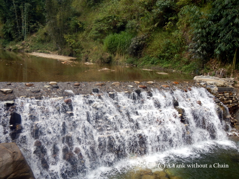 The beginning of the Tien Sa waterfall in Ca Cat