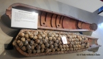 A display of a cluster bomb, the source of nearly all the UXOs left in Laos