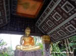 A sitting Buddha at Vat Xieng Thong in Luang Prabang