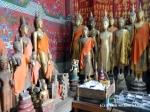 Buddha statues at Vat Xieng Thong in Luang Prabang