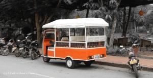 A tuk tuk in Luang Prabang