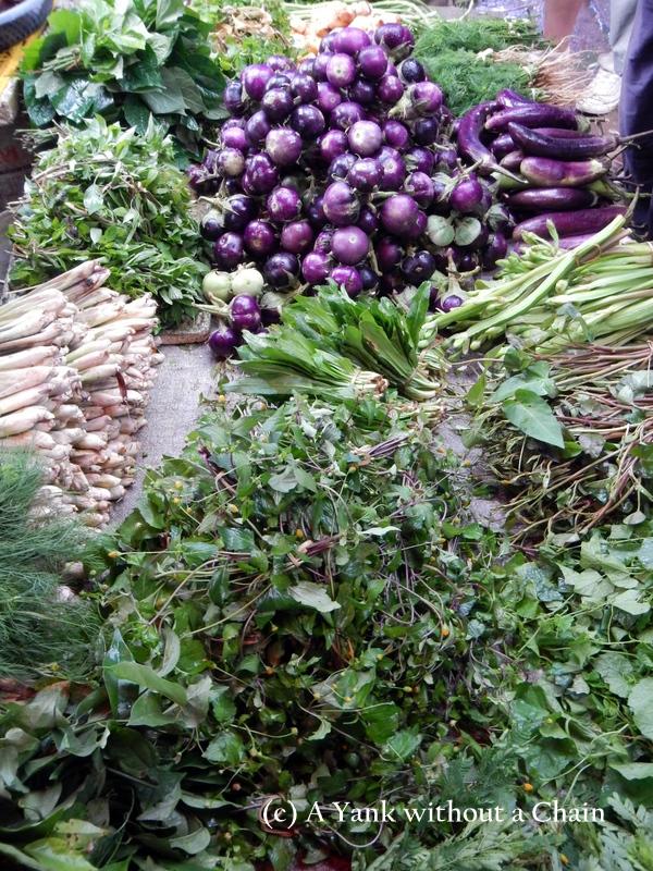 Local herbs and produce at Luang Prabang's market