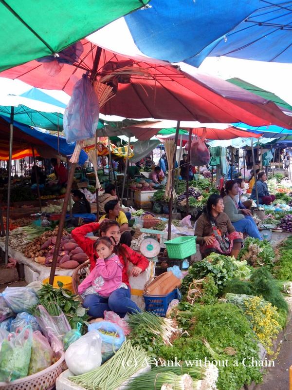 Women at the market in Luang Prabang