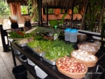 The demonstration table at Tamarind's cooking school